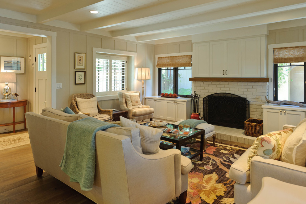 Inspiration for a coastal living room remodel in San Francisco