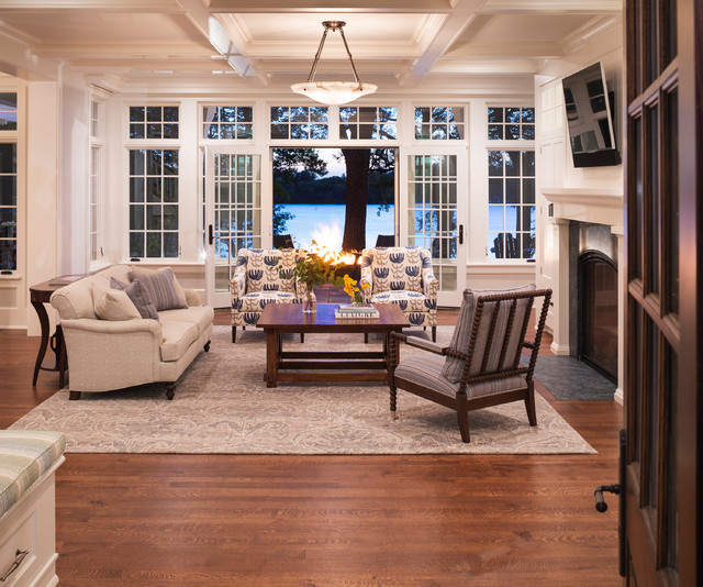 Open Floor Plan Living Room Furniture Arrangement: Carman Bay Cottage (Lake Minnetonka)