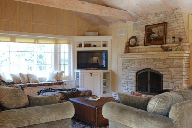 Carmel Cottage Great Room traditional living room