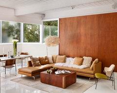 Carmel Mid-Century LEED midcentury-living-room