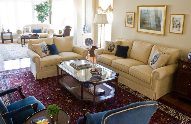 Carolina Preserve Retirement Home - Traditional - Living Room - raleigh - by Susannah West ...