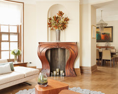 Caroline Beaupere Design transitional-living-room