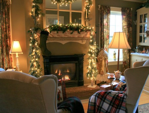traditional living room Make Your Home Cozy for Christmas