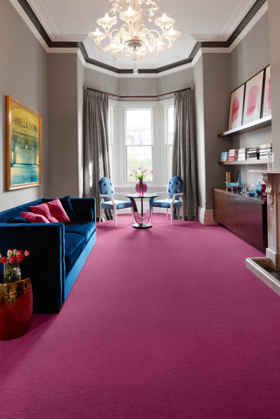 75 Beautiful Pink Carpeted Living Room Pictures Ideas May 2021 Houzz