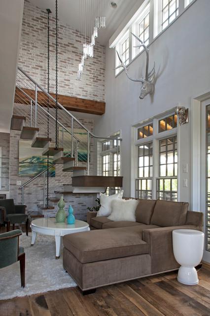 Carriage House contemporary-living-room