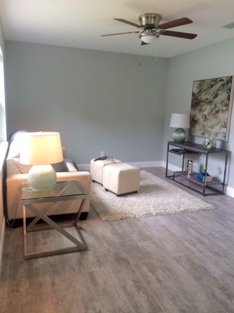 Carrollwood Staging Contemporary Living Room Tampa