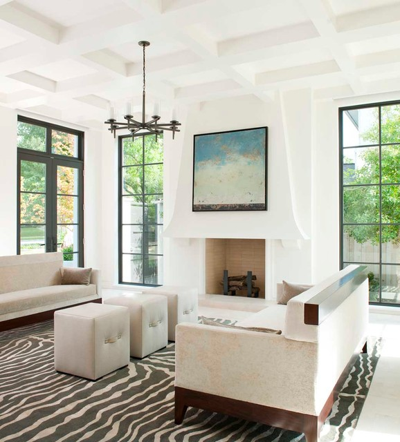 Caruth - Contemporary - Living Room - Dallas - by TATUM BROWN CUSTOM ...