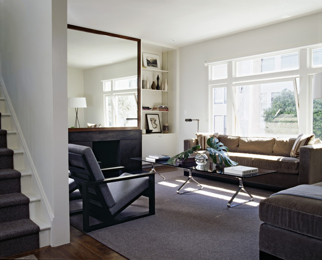 Cary Bernstein Architect Choy 2 Residence Transitional Living Room