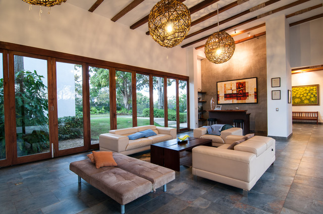 Casa Balcones Transitional Living Room Other By Louise Lakier