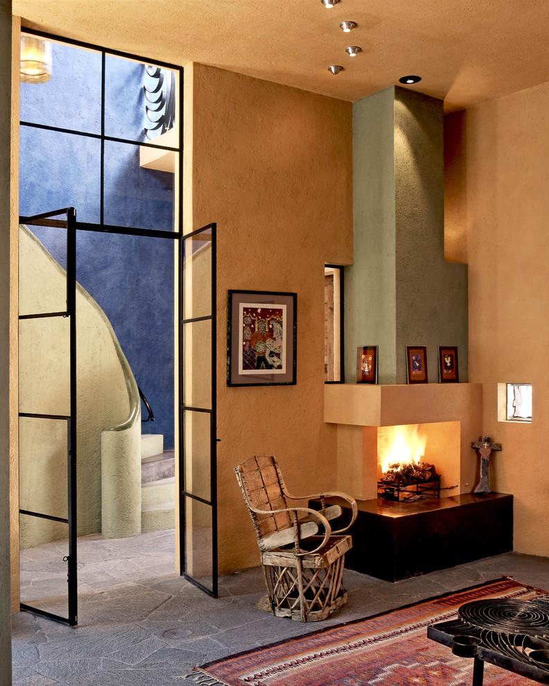 Living room - contemporary living room idea in Mexico City