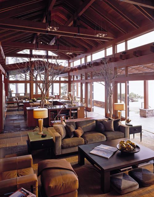 Contemporary home designs featuring indoor plants.