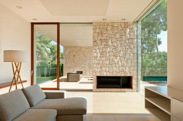 Casa el Bosque moderno-salon