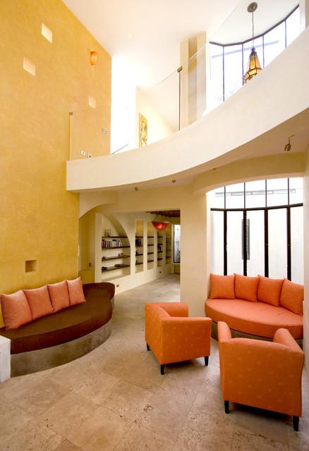 Casa Lluvia Blanca mediterranean-living-room