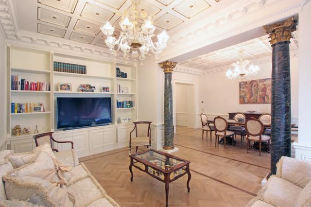 casa neoclassica in via del corso a roma, neoclassical house in ... - Soggiorno Neoclassico 2