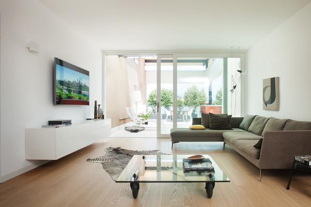 Casa privata pordenone contemporaneo soggiorno for Cucinare diaframma
