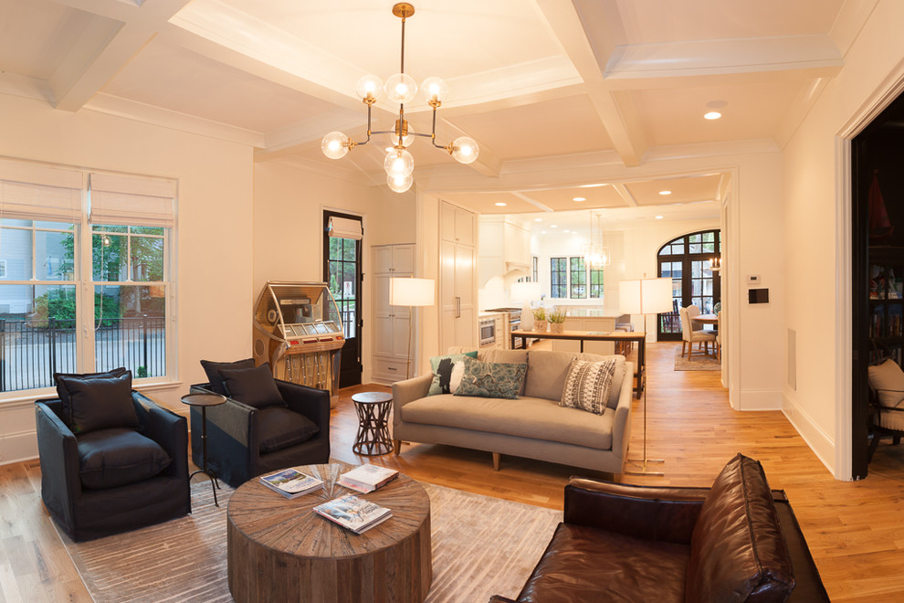Inspiration for a transitional living room remodel in Charlotte