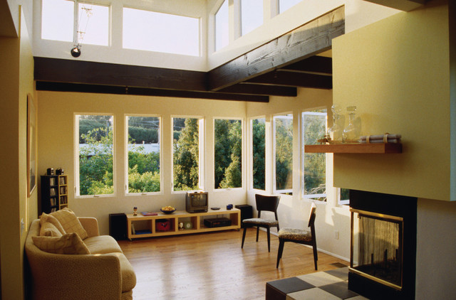 Room With Casement Windows : Casement windows contemporary living room raleigh