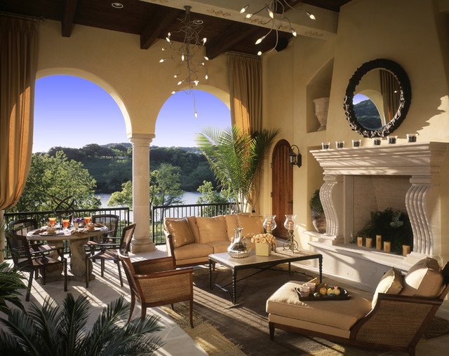 caslano outdoor living room - mediterranean - living room - austin