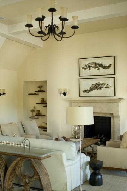 Cassique Cottage beach-style-living-room