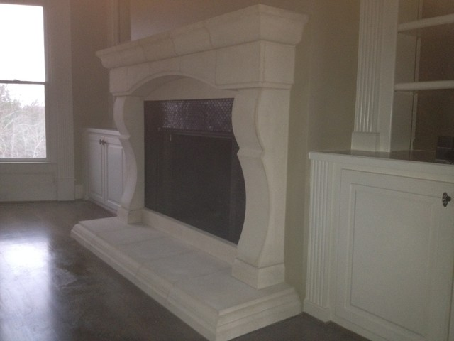 Cast Stone Fireplace Mantels Mediterranean Living Room Other Metro By Southern Stone