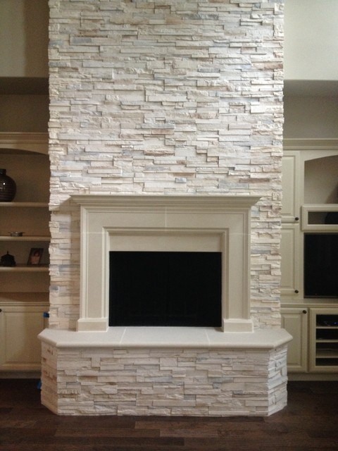 Cast Stone Fireplaces - Traditional - Living Room - Houston - by ...