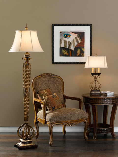 castalia floor lamp and table lamp from murray feiss