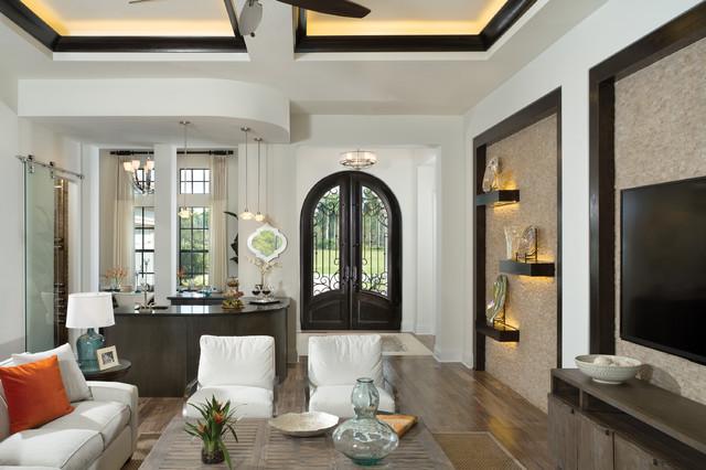 Castellina 1238 Model Home Professional Decorator Project  mediterranean-living-room