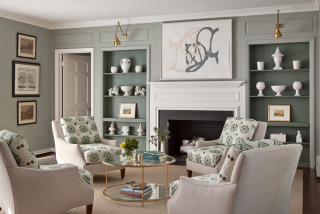 Casual Chic Transitional Living Room Richmond By Ryland Witt Interior Design