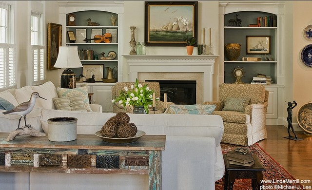 Casual Living Room - Traditional - Living Room - Boston - by ...