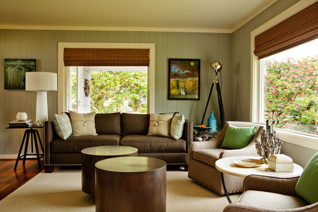 Casual luxe beach house beach style living room portland by garrison hullinger interior - Beach design living rooms ...