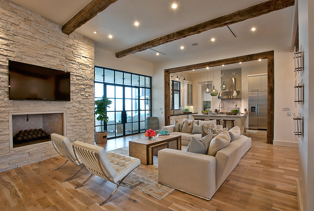 Cat mountain contemporary living room austin by - Cornerstone kitchens and bathrooms ...