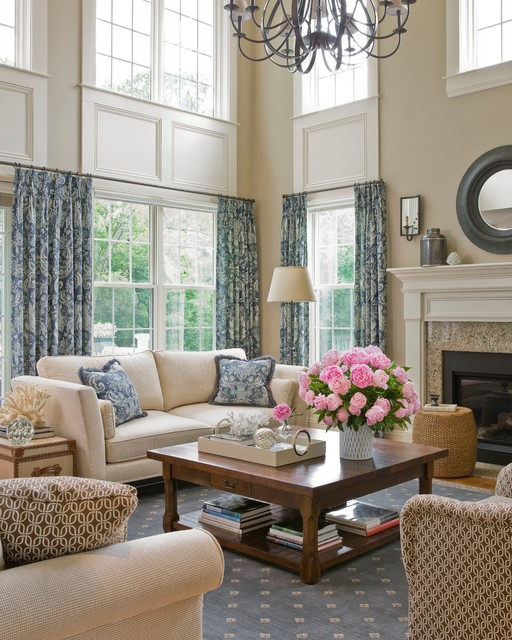 Cathedral Living Room Traditional Living Room Boston By JTM Interiors