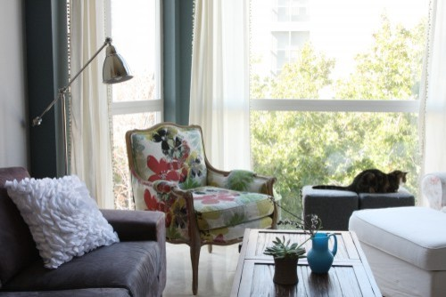 cats eclectic-living-room