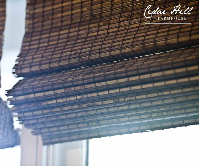 Cedar Hill Farmhouse With Bali Natural Woven Wood Shades