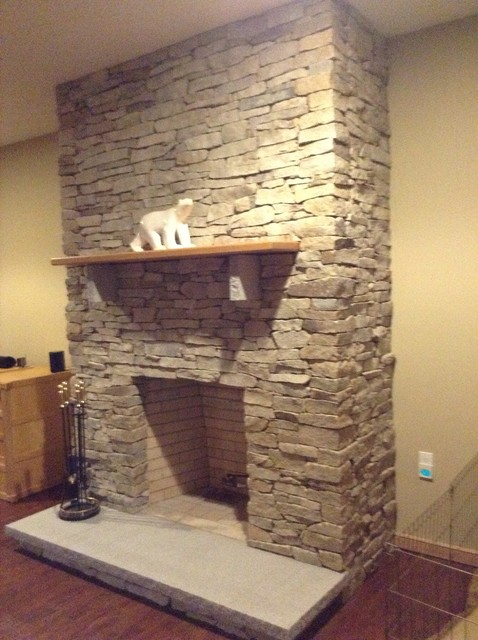 Mountain style living room photo in New York