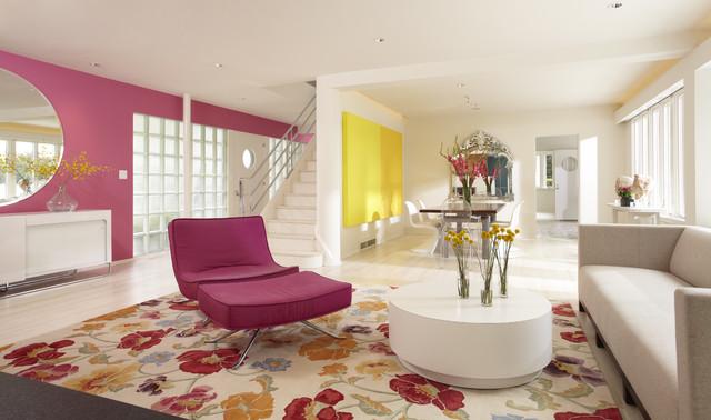 Cedar Lake International Style modern-living-room