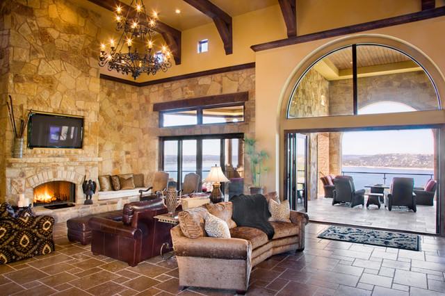 Cedar Street - Lake Travis mediterranean-living-room