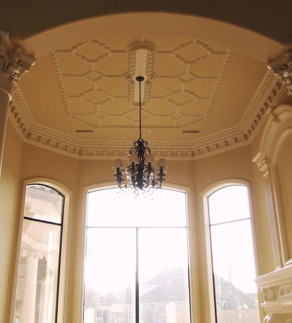 ceiling pattern - Mediterranean - Living Room - Dallas