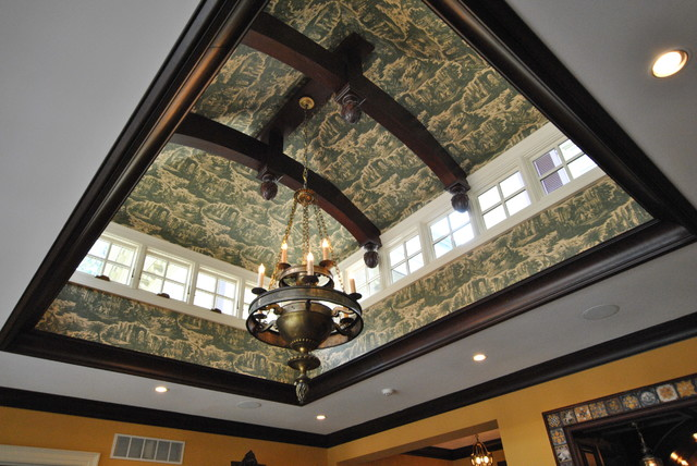 ceiling treatment traditional-living-room
