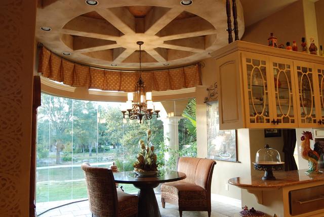 Ceiling treatments by stadler custom homes mediterranean living room