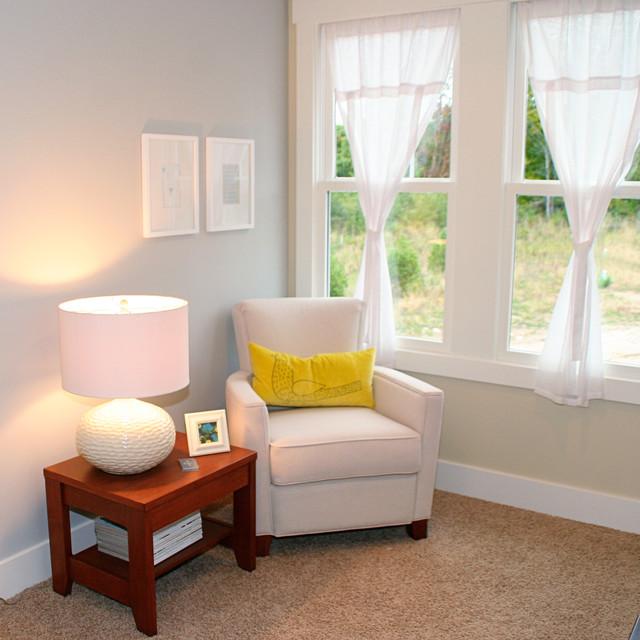 Celadon Parade Home Modern Living Room Grand Rapids By Green Apple De