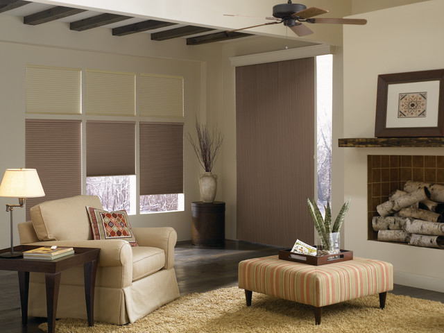 Cellular Shades Blinds For Sliding Glass Doors Modern Living Room