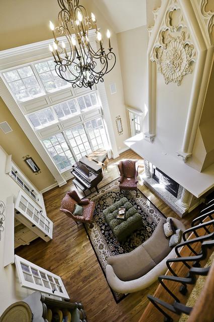 Celtic construction trim work traditional living room for Little rock custom home builders