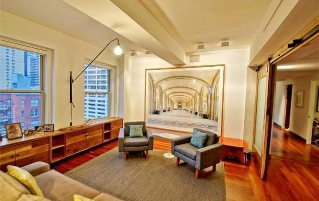 Center City condo traditional-living-room