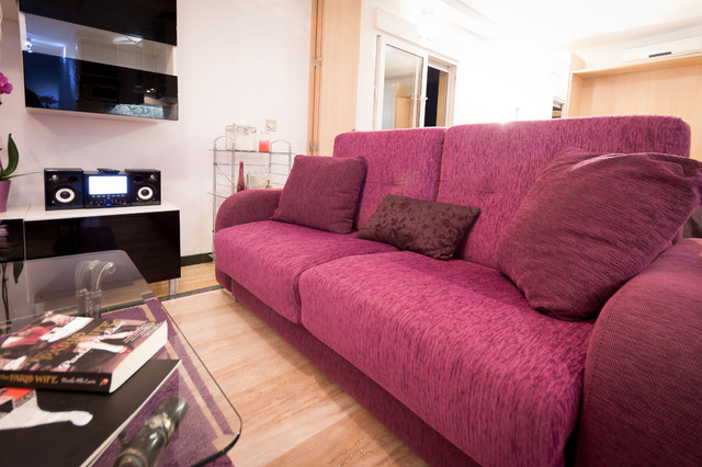 Center city of Malaga photography work modern-living-room