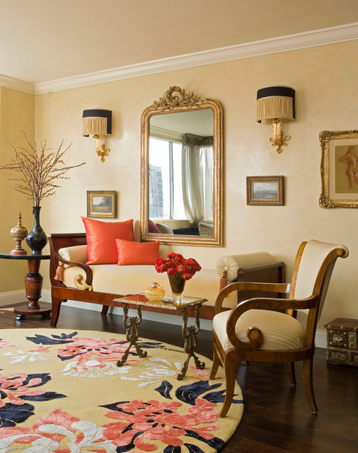Central Park West New York City Traditional Living Room New York By
