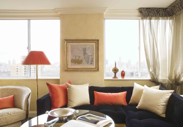 Central park west new york city traditional living for W living room new york