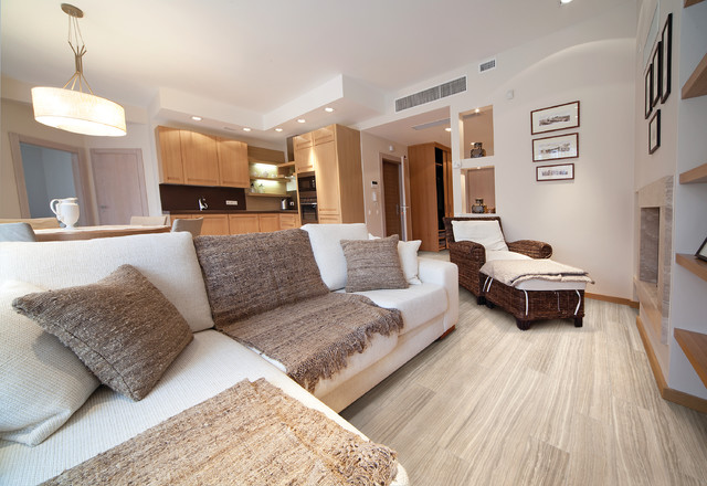 Ceramic Porcelain Tile Contemporary Living Room Other Metro By