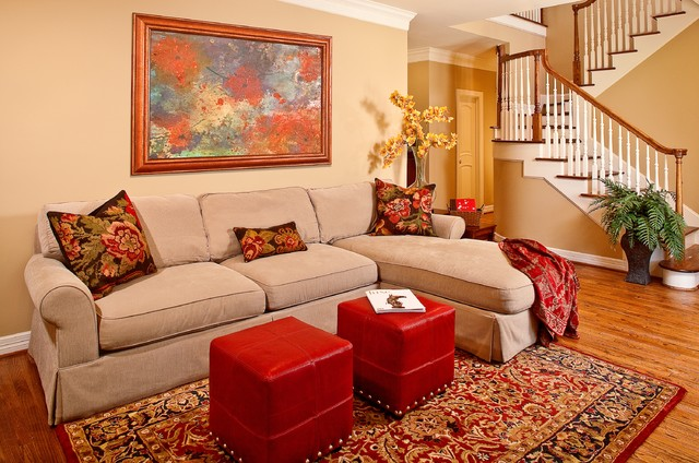 Certified green home traditional living room houston for Green traditional living room