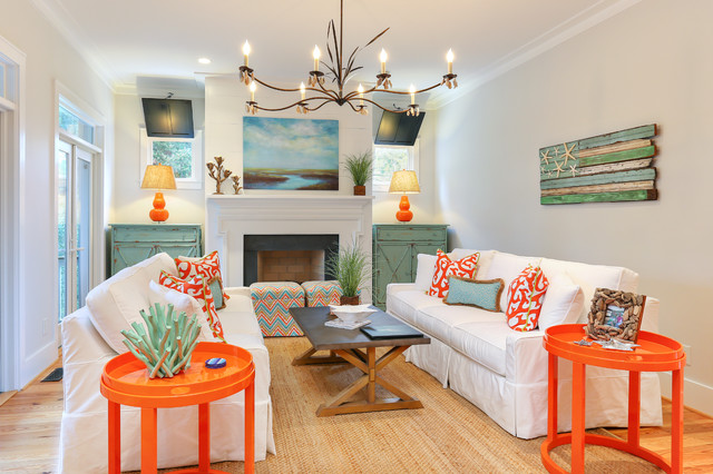 enchanting tropical theme living room | CH+D mag's Spring 2014 Best-Of Photos - Beach Style ...